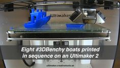 See how the 8 #3DBenchy boats 3D-print sequentially on an #Ultimaker 2 @ultimaker @3DBenchy  Read the article:3dbenchy.com/?p=1200