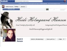 Følg mig på Facebook og se når der nyt på bloggen.  https://www.facebook.com/heidiholmgaardhansen