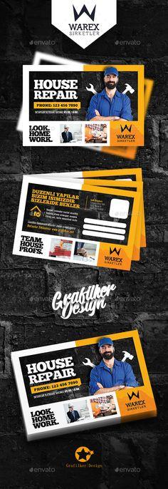 House Repair Postcard Templates - Cards & Invites Print Templates