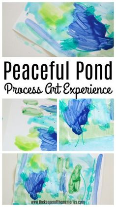 Teach little kids about pond life and pond plants with this Peaceful Pond Art for Preschoolers Invitation to Creative Process Art Experience. You're definitely going to want to check it out! Process Art Preschool, Preschool Themes, Preschool Crafts, April Preschool, Preschool Kindergarten, Kids Learning Activities, Toddler Activities, Preschool Activities, Diy Crafts For Kids Easy