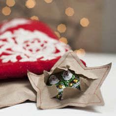 Festive candy wrappers to fill your stocking.