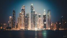 Dubai Marina by night by Ilyass Triba on 500px