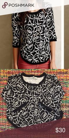 "Anthropologie Moth Sweater In Great Condition Bust: 21"" Length: 21"" Anthropologie Sweaters Crew & Scoop Necks"