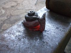 Too hot to trot.....just forged snail | by Helen Nock (www.helen-nock.co.uk)