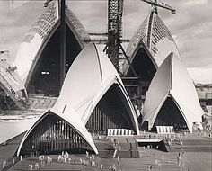 David MOORE, Sydney - Sydney Opera House under construction with model