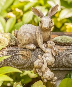 Climbing Bunny Family Sculpture is perfect!This Climbing Bunny Family Sculpture is perfect! Outdoor Sculpture, Garden Sculpture, Rabbit Sculpture, Garden Art, Garden Design, Family Sculpture, Sleeping Bunny, Rabbit Garden, Baby Bunnies