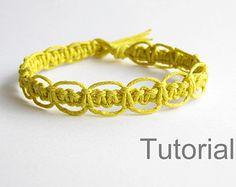 macrame bracelet pattern tutorial pdf tuto jewelry instructions knot diy handmade tutoriel knot easy step by step Christmas how to micro makrame