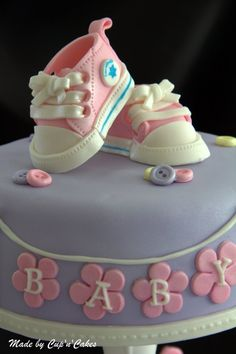 Baby Girl Converse Cake  on Cake Central
