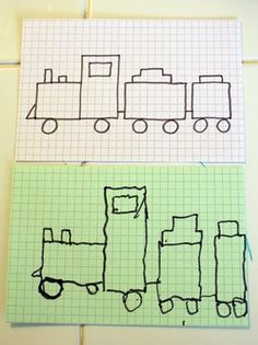 Work on fine motor and spatial skills for older kids (4- 8).  Draw a picture on grid paper and have child copy.
