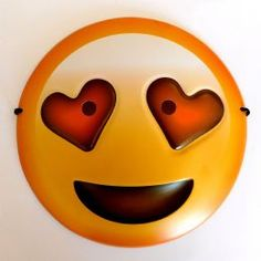 A interesting fun fancy dress mask that features the heart eyes emoji smiley face. This durable plastic mask has stretch elastic fit that will be suitable for both children and adults. Smiley Emoji, Eyes Emoji, Emoji Faces, Emoticon, Funny Photo Booth, Photo Booth Props, Emoji Mask, Fancy Dress Masks, 3d Face