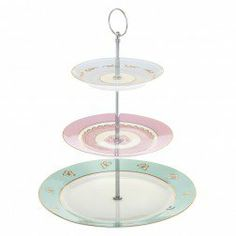 Hotchpotch Vintage 3 Tier Cake Stand with Butterflies - Bombay Duck