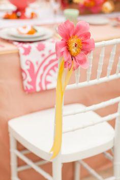 colorful citrus wedding