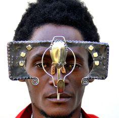 Kenyan Artist Digs Through Electronic Refuse and Found Metal to Create Dazzling Sculptural Eyewear