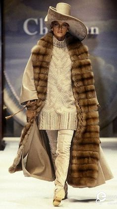 Image from object titled 'Christian Dior, Autumn-Winter Couture' Christian Dior Designer, Christian Dior Vintage, Vintage Fur, Vintage Glamour, Fur Fashion, Fashion Brands, 20th Century Fashion, Dior Couture, Costume