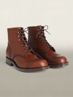 RRL Calfskin Cap-toed Boots. I think these are actually by Tricker's.