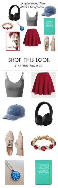 """""""School Outfit #11: Imagine Being Tony Stark's Daughter"""" by jaderbugz on Polyvore featuring Doublju, SO, Beats by Dr. Dre, Gap, Dana Buchman, Reactor and Happy Jackson"""