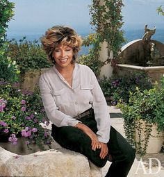 Tina Turner at home.  Photographed for Architectural Digest.