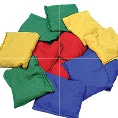 Bean Bags to throw! Remember these well at infant and junior school :)