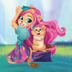Enchantimals dolls are a group of lovable girls who have a special bond with their animal friends, and even share some of the same characteristics. Beautiful Fairies, Beautiful Dolls, Shoppies Dolls, Lion Paw, Wild Style, Cute Cartoon, Girl Birthday, Cute Pictures, Chibi