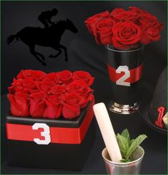 Image Detail for - Kentucky Derby Party: Run for the Roses Centerpiece Ideas |