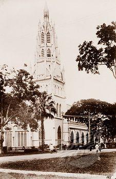 SuperStock - Church in Georgetown. The Roman Catholic Church in Georgetown. Georgetown, Guyana, circa 1948. Georgetown, Demerara-Mahaica, Guyana, South America, South America .