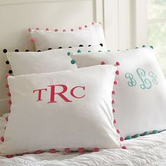 I love the Color Pop Pillow Cover on pbteen.com