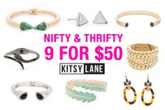 Nifty and Thrifty! Grab nine for fifty and rejuvenate your jewelry box. We've got countless styles to choose from! Stock up on studs galore and more!