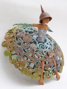 My passion for design and the arts in general are greatly influenced by my mom Barbara. She introduced me to lots of artwork by mostly Dutch artists. Janneke Bruines is one of them. Ceramic Clay, Ceramic Pottery, Pottery Art, Pottery Sculpture, Sculpture Clay, Ceramic Figures, Ceramic Artists, Clay People, Sculptures Céramiques