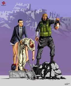 L'illustrateurGunduz Agayev, originaire d'Azerbaïdjan, revient avec une nouvelle série d'illustrations satiriques intituléeFemidead,mettant en scène