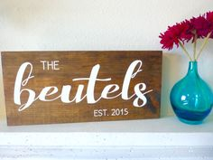 family name sign, wood sign, wooden sign, wood wall art, home decor, wall art, hand lettered, name sign by LifeLessOrdinaryShop on Etsy https://www.etsy.com/listing/353192985/family-name-sign-wood-sign-wooden-sign