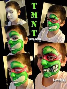 Post Entries Here! - Page 6 Face Painting Images, Animal Face Paintings, Face Painting For Boys, Face Painting Tutorials, Face Painting Designs, Cool Paintings, Ninja Turtles, Ninja Turtle Face Paint, Kids Makeup
