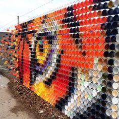 Pixel Art, Graffiti, Systems Art, Collaborative Art Projects, Recycled Art Projects, Fence Art, Art Corner, Elements Of Art, Environmental Art