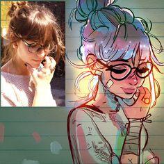 Fotos in Cartoons verwandelt – Portrait-Adaptionen von Toonimated Fotos en dibujos animados verwandelt www. 3d Drawings, Realistic Drawings, Cartoon Drawings, Cartoon Art, Vintage Cartoons, Drawing Artist, Manga Drawing, Character Drawing, Drawing People