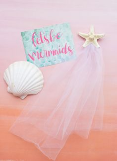mermaid bridal veil