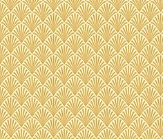 Art Deco Fans, Gold fabric by magentayellow on Spoonflower - custom fabric