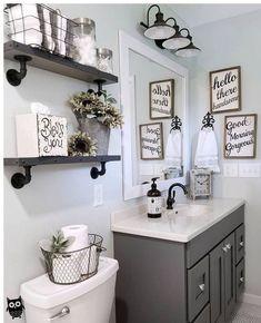 Home Interior Salas .Home Interior Salas Diy Bathroom Decor, Bathroom Interior, Room Decor Bedroom, Interior Design Living Room, Small Bathroom, Diy Room Decor, Bathroom Ideas, Modern Bathroom, Bathroom Lighting