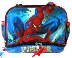 Marvel Heroes character lunch box- The Amazing Spiderman lunch pale @ niftywarehouse.com