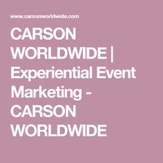 32 best event planning images on pinterest books event planning carson worldwide is an experiential event and strategic marketing company providing live physical events and tangible solutions fandeluxe Images