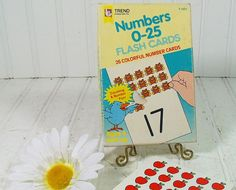 Numbers 025 Flash Cards Collection  Vintage Trend by DivineOrders, $12.00