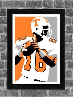 Tennessee Volunteers Peyton Manning Portrait Sports Print Art 11x17 6e4ebc15e