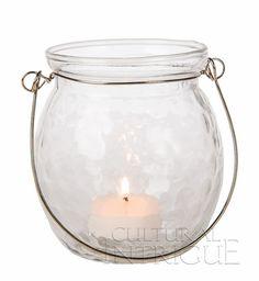Clear Hanging Jar (honeycomb ball design)