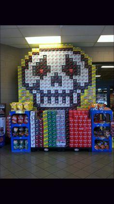 Coke skull display