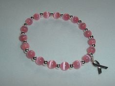 Breast Cancer Awareness Bracelet  Sterling by gandltreasures