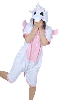 Dramatic, cute and innocent, the unicorn short sleeve onesie is a unique and fun product. In pink and white with pink wings to denote the magical unicorn, a unicorn horn and beautiful eyes on the unic