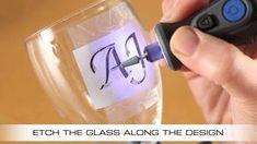 Glass Bottle Crafts, Bottle Art, Glass Bottles, Wine Glass, Dremel Tool Projects, Dremel Ideas, Glass Etching Stencils, Dremel Rotary Tool, Dremel 300