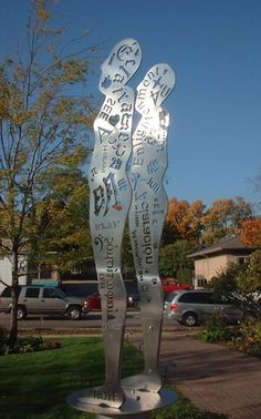 A Geneva artist uses puns in his sculptures.