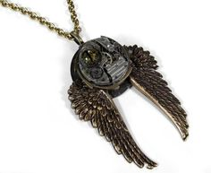 Steampunk Necklace Vintage Nihilist Post Apocalypse by edmdesigns, $195.00