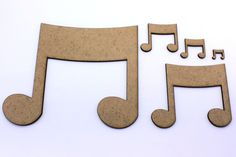 Music Note, Craft Shapes, Embellishments, Decorations, 2mm MDF Wood in Crafts, Woodworking | eBay