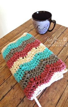 Crochet a book cover for your favorite book like Katies Crochet Goodies did for a bible.