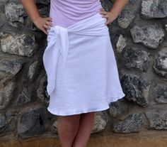 Tutorial ~ Simple A Line Skirt (No Zippers, No Buttons!)